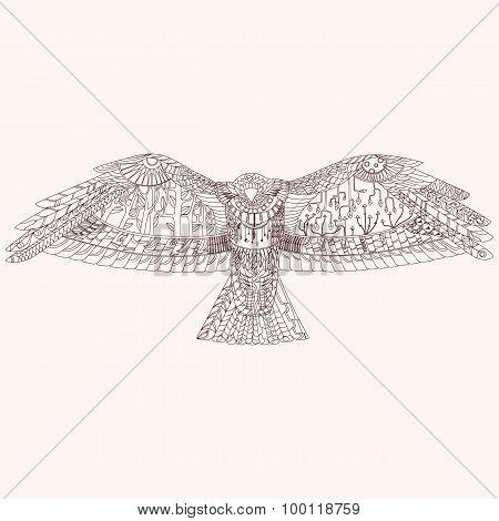 Patterned bird