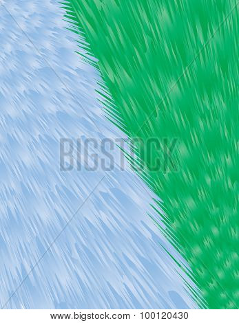 Blue-green Fur Background