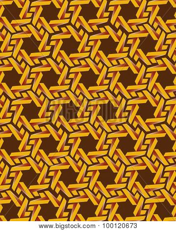 Yellow Gear Elements On Brown Background