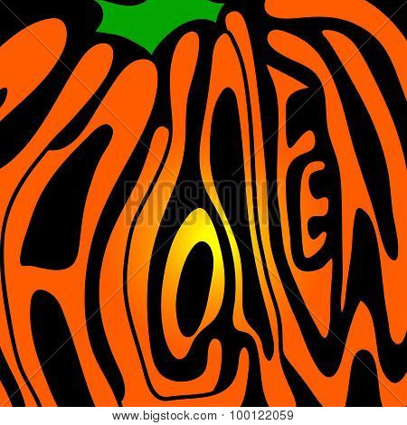 Pumpkin lettering for Halloween on a background. Vector