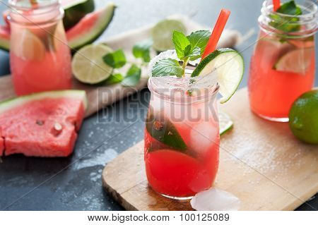 Delicious melon and lime drink