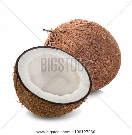 Coconuts Isolated On White Background