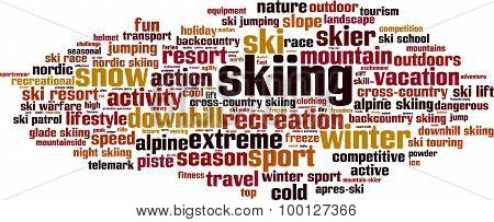 Skiing Word Cloud