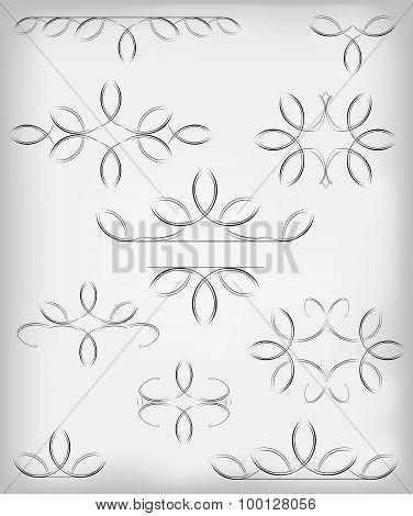 Vector set. a lot of design elements and page decoration.EPS10 vector illustration
