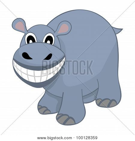 Funny Cartoon Hippo