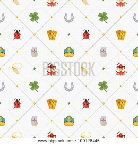 Seamless pattern with Lucky Charms