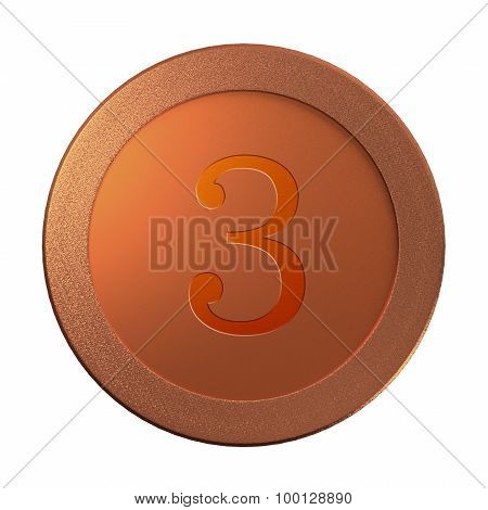 3 Bronze Coin Medal Template