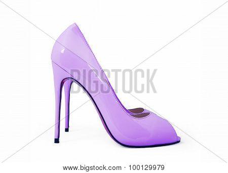 Purple High-heeled Shoes