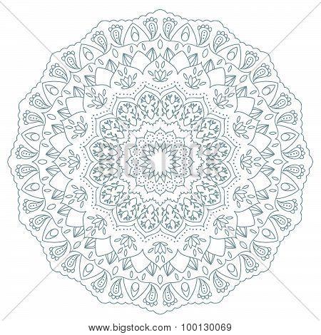 Mandala. Round Ornament Pattern. Vintage decorative elements. Hand drawn background. Islam, Arabic,