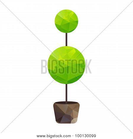 Triangle Tree In Pot