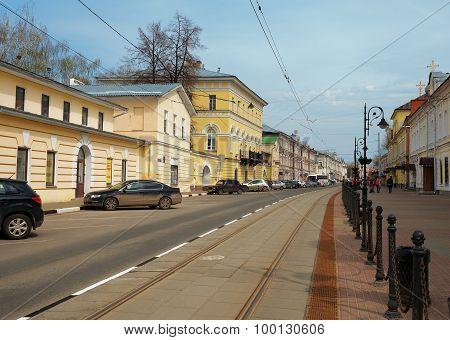 Rozhdestvenskaya Street In Nizhny Novgorod