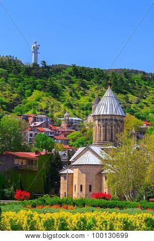 Georgia, Tbilisi Temple Statue