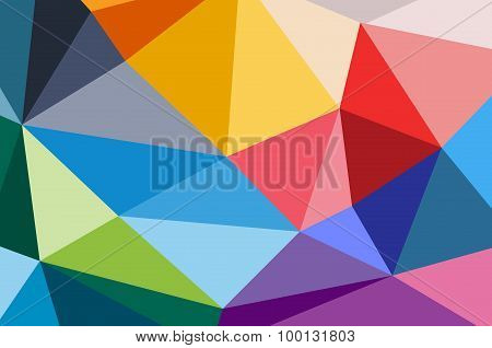 Abstract triangle technology background design.