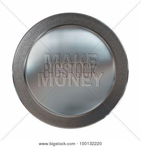 Platinum Make Money Coin Medal