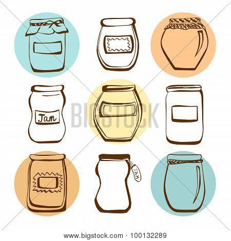 Vector Jam Jars