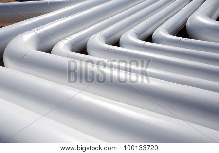 pattern of a white new pipes
