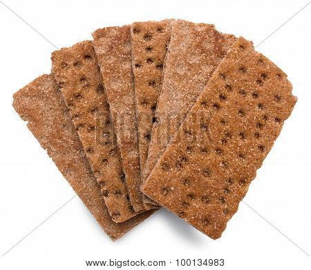 Crispbread over white