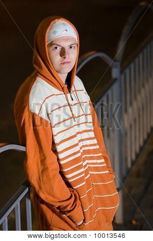 Young Drug Dealer At Night