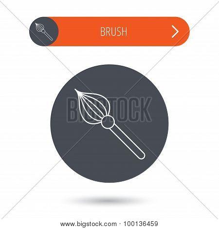 Brush icon. Paintbrush tool sign.