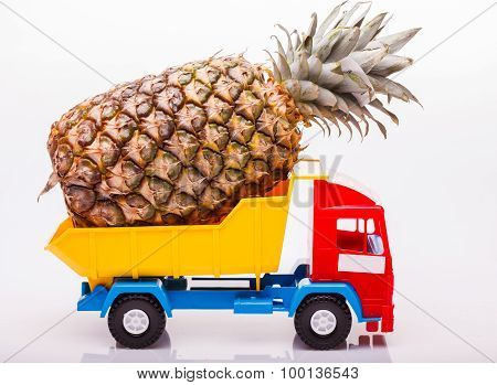 Pineapple On Lorry