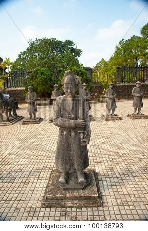 Tomb of Khai Dinh emperor in Hue, Vietnam.