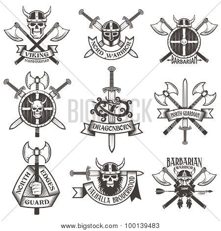 Viking logo set
