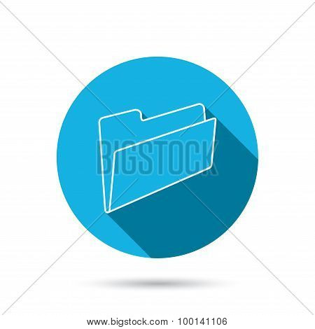 Folder icon. Accounting audit sign.