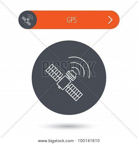 GPS icon. Satellite navigation sign.