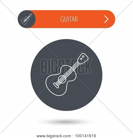Guitar icon. Musical instrument sign.