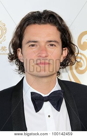 HOLLYWOOD, CA-JUN 1: Actor Orlando Bloom attends the 2014 Huading Film Awards at The Montalban on June 1, 2014 in Hollywood, California.