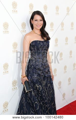 HOLLYWOOD, CA-JUN 1: Actress Lucy Liu attends the 2014 Huading Film Awards at The Montalban on June 1, 2014 in Hollywood, California.