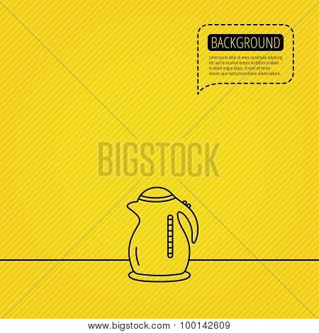 Kettle icon. Kitchen teapot sign.