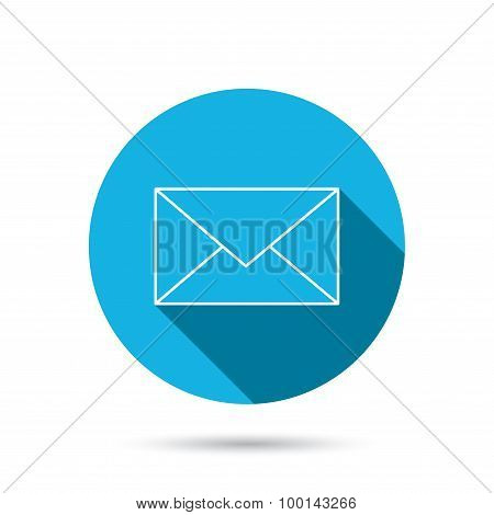 Envelope mail icon. Email message sign.