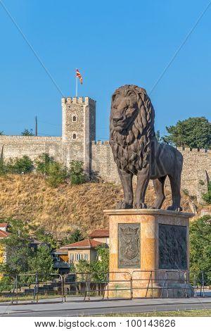 Skopje lion statue
