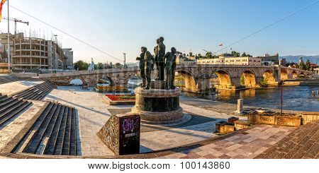 Skopje old stone bridge