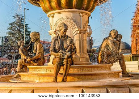 Fountain of the Mothers in Skopje