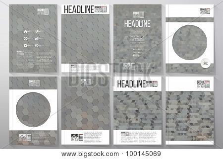Business templates for brochure, flyer or booklet. Collection of abstract multicolored backgrounds.