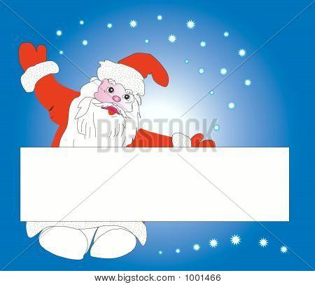 Santa Claus And Card