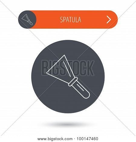 Spatula icon. Finishing repair tool sign.