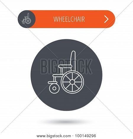 Wheelchair icon. Disabled traffic sign.