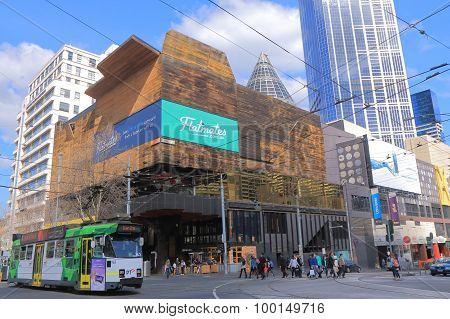 Melbourne cityscape tram