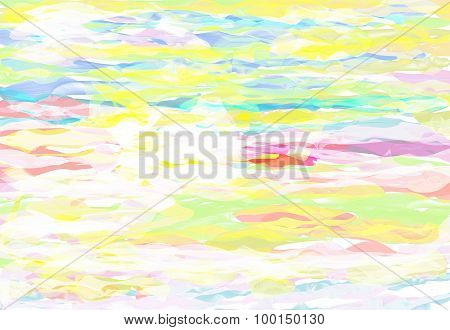 Multicolored Painting Brush Texture Abstract Background