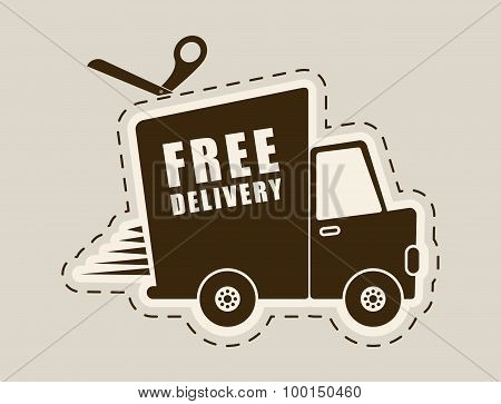 Free delivery design.