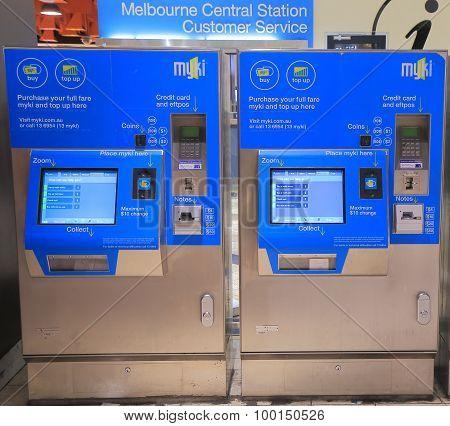 Melbourne train ticket machine