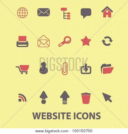 website icons set, vector