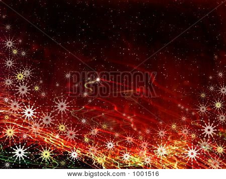 Christmas Fiery Space Background