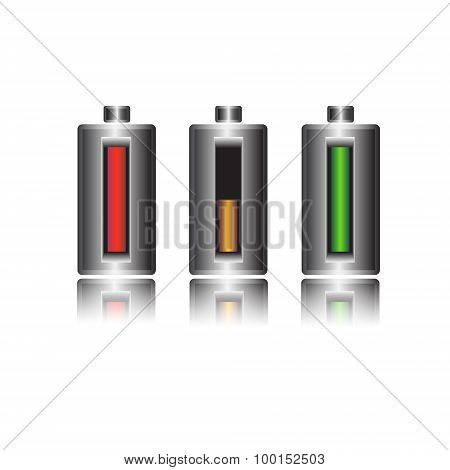 Battery Charge Status, Vector Illustration