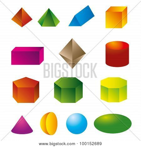 3D Geometric Shapes Vector.eps