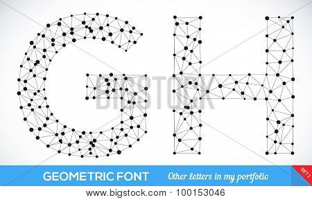 Geometric type font.