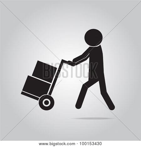 Handcart Symbol Illustration